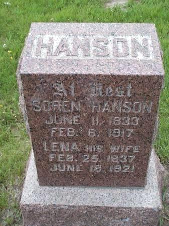 HANSON, SOREN & LENA - Pottawattamie County, Iowa   SOREN & LENA HANSON