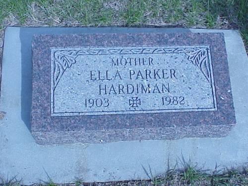 HARDIMAN, ELLA PARKER - Pottawattamie County, Iowa | ELLA PARKER HARDIMAN