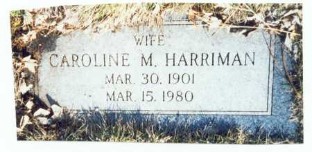 HARRIMAN, CAROLINE M. - Pottawattamie County, Iowa | CAROLINE M. HARRIMAN