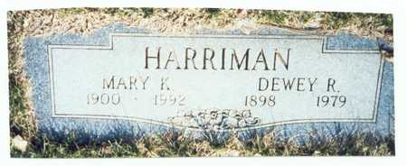 HARRIMAN, DEWEY R. - Pottawattamie County, Iowa | DEWEY R. HARRIMAN