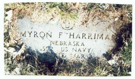 HARRIMAN, MYRON F. - Pottawattamie County, Iowa | MYRON F. HARRIMAN
