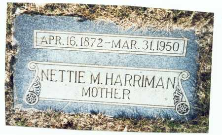 HARRIMAN, NETTIE M. - Pottawattamie County, Iowa | NETTIE M. HARRIMAN