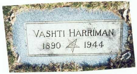 HARRIMAN, VASHTI - Pottawattamie County, Iowa   VASHTI HARRIMAN