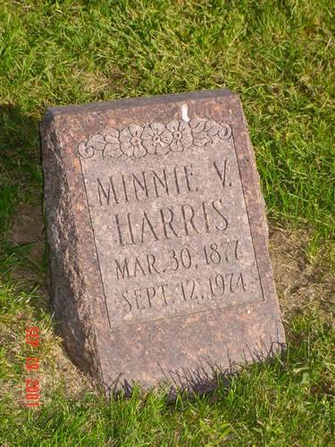 HARRIS, MINNIE V. - Pottawattamie County, Iowa | MINNIE V. HARRIS