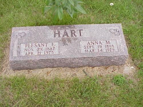 HART, PLEASANT E. & ANNA M. - Pottawattamie County, Iowa | PLEASANT E. & ANNA M. HART