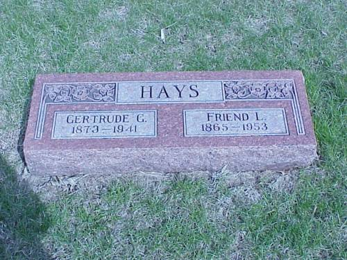 HAYS, GERTRUDE & FRIEND - Pottawattamie County, Iowa | GERTRUDE & FRIEND HAYS