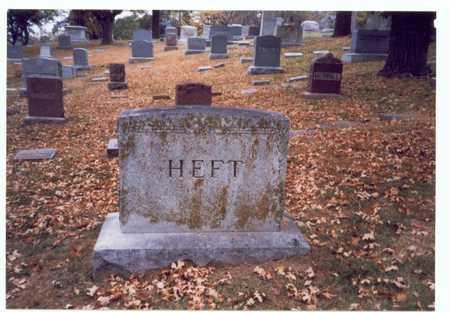 HEFT, FAMILY MARKER - Pottawattamie County, Iowa | FAMILY MARKER HEFT