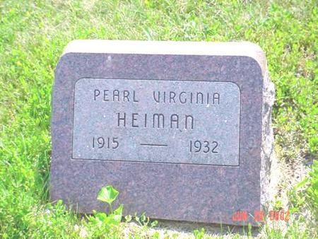 HEIMAN, PEARL VIRGINIA - Pottawattamie County, Iowa | PEARL VIRGINIA HEIMAN