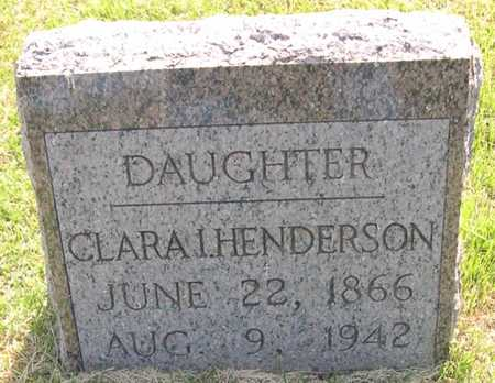 HENDERSON, CLARA I. - Pottawattamie County, Iowa | CLARA I. HENDERSON