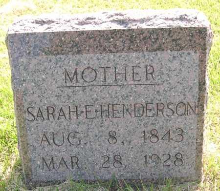 HENDERSON, SARAH E. - Pottawattamie County, Iowa   SARAH E. HENDERSON
