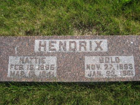 HENDRIX, HATTIE - Pottawattamie County, Iowa   HATTIE HENDRIX