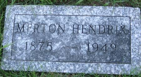 HENDRIX, MERTON - Pottawattamie County, Iowa   MERTON HENDRIX