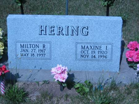 HERING, MILTON R. - Pottawattamie County, Iowa   MILTON R. HERING