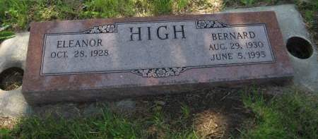 HIGH, BERNARD - Pottawattamie County, Iowa   BERNARD HIGH