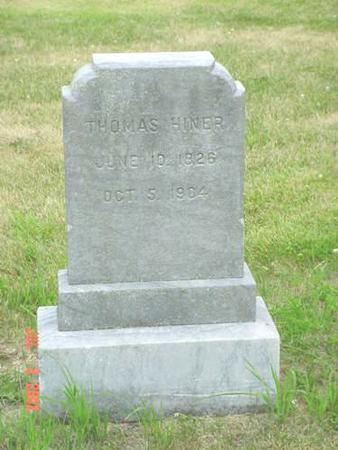 HINER, THOMAS - Pottawattamie County, Iowa   THOMAS HINER