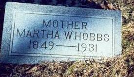 HOBBS, MARTHA W. - Pottawattamie County, Iowa   MARTHA W. HOBBS