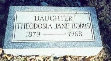 HOBBS, THEODOSIA JANE - Pottawattamie County, Iowa | THEODOSIA JANE HOBBS