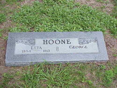 HOONE, ETTA & GEORGE - Pottawattamie County, Iowa | ETTA & GEORGE HOONE