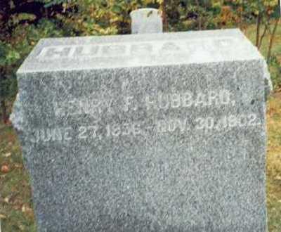 HUBBARD, HENRY F. - Pottawattamie County, Iowa | HENRY F. HUBBARD