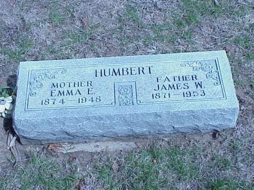 HUMBERT, EMMA E. & JAMES W. - Pottawattamie County, Iowa | EMMA E. & JAMES W. HUMBERT