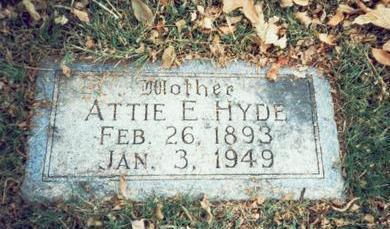 HYDE, ATTIE E. - Pottawattamie County, Iowa | ATTIE E. HYDE