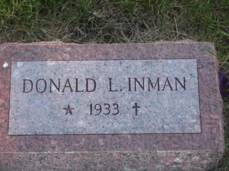 INMAN, DONALD L. - Pottawattamie County, Iowa   DONALD L. INMAN