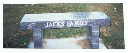 JACKS, FAMILY MARKER - Pottawattamie County, Iowa   FAMILY MARKER JACKS