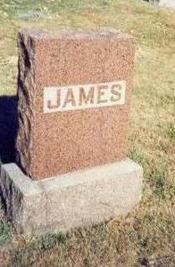 JAMES, MARKER - Pottawattamie County, Iowa | MARKER JAMES