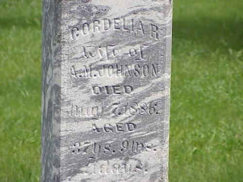 JOHNSON, CORDELIA R. - Pottawattamie County, Iowa | CORDELIA R. JOHNSON