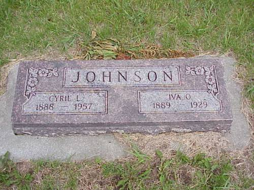 JOHNSON, CYRIL L. & LVA O. - Pottawattamie County, Iowa | CYRIL L. & LVA O. JOHNSON