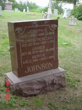 JOHNSON, JOSEPH D., EUNICE REBECCA, JAMES & BERTIE - Pottawattamie County, Iowa | JOSEPH D., EUNICE REBECCA, JAMES & BERTIE JOHNSON