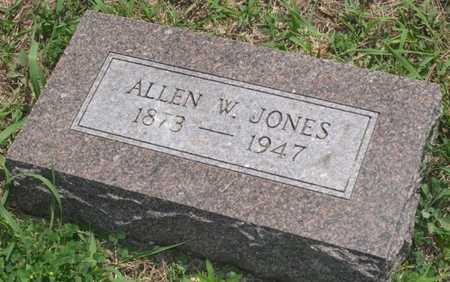 JONES, ALLEN W. - Pottawattamie County, Iowa   ALLEN W. JONES