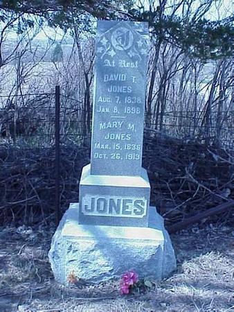 JONES, DAVID T. & MARY M. - Pottawattamie County, Iowa | DAVID T. & MARY M. JONES