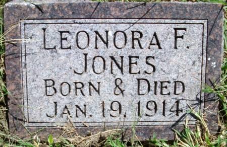 JONES, LEONORA F - Pottawattamie County, Iowa | LEONORA F JONES