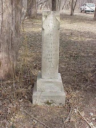 JONES, MARY A. MACE - Pottawattamie County, Iowa | MARY A. MACE JONES