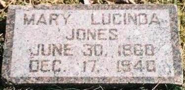 JONES, MARY LUCINDA - Pottawattamie County, Iowa | MARY LUCINDA JONES