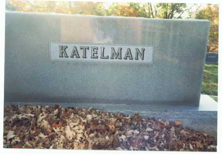 KATELMAN, MARKER - Pottawattamie County, Iowa   MARKER KATELMAN