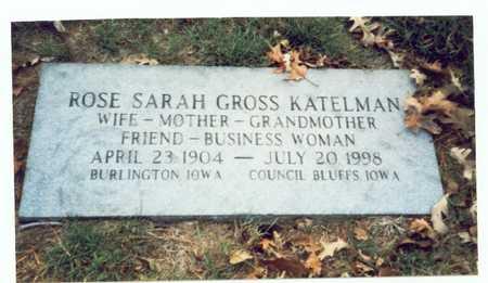GROSS KATELMAN, ROSE SARAH - Pottawattamie County, Iowa | ROSE SARAH GROSS KATELMAN