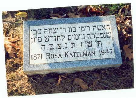 KATELMAN, ROSA - Pottawattamie County, Iowa | ROSA KATELMAN