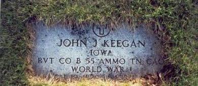 KEEGAN, JOHN J. - Pottawattamie County, Iowa | JOHN J. KEEGAN