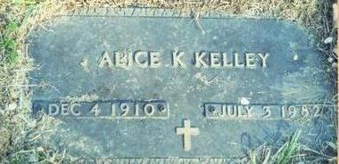 KELLEY, ALICE K. - Pottawattamie County, Iowa | ALICE K. KELLEY