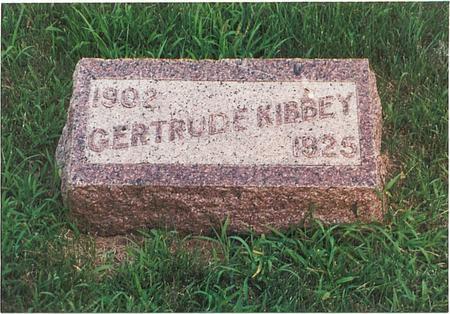 STRAYER KIBBEY, GERTUDE VERNE - Pottawattamie County, Iowa | GERTUDE VERNE STRAYER KIBBEY