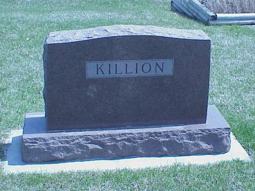KILLION, HEADSTONE - Pottawattamie County, Iowa | HEADSTONE KILLION