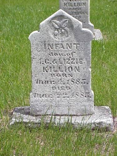 KILLION, INFANT DAUGHTER - Pottawattamie County, Iowa | INFANT DAUGHTER KILLION