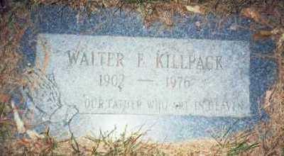 KILLPACK, WALTER F. - Pottawattamie County, Iowa   WALTER F. KILLPACK