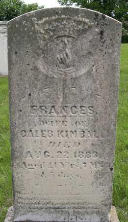 KIMBALL, FRANCES - Pottawattamie County, Iowa | FRANCES KIMBALL