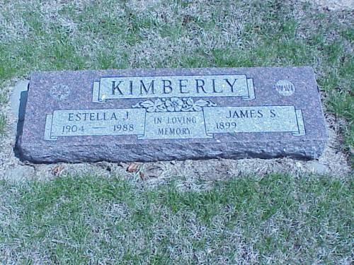 KIMBERLY, ESTELLA J. & JAMES S. - Pottawattamie County, Iowa | ESTELLA J. & JAMES S. KIMBERLY