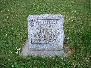 KING, BERTHA - Pottawattamie County, Iowa   BERTHA KING