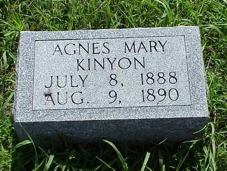 KINYON, AGNES MARY - Pottawattamie County, Iowa | AGNES MARY KINYON