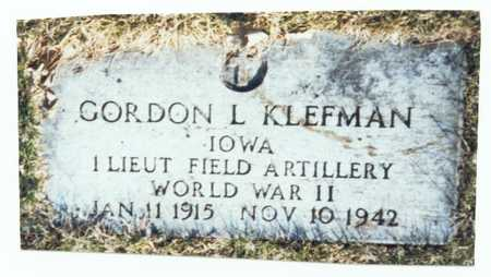 KLEFMAN, GORDON L. - Pottawattamie County, Iowa | GORDON L. KLEFMAN
